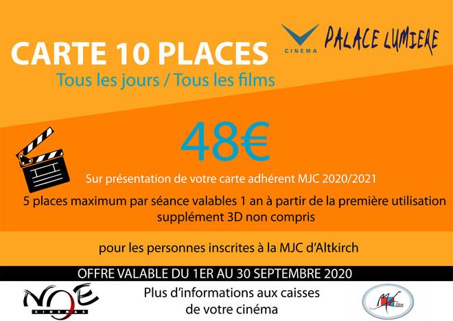 Abonement réservé aux adhérents de la MJC d'Altkirch