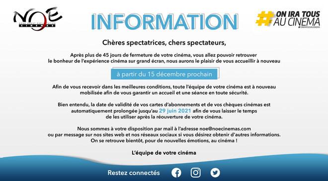 Information Réouverture