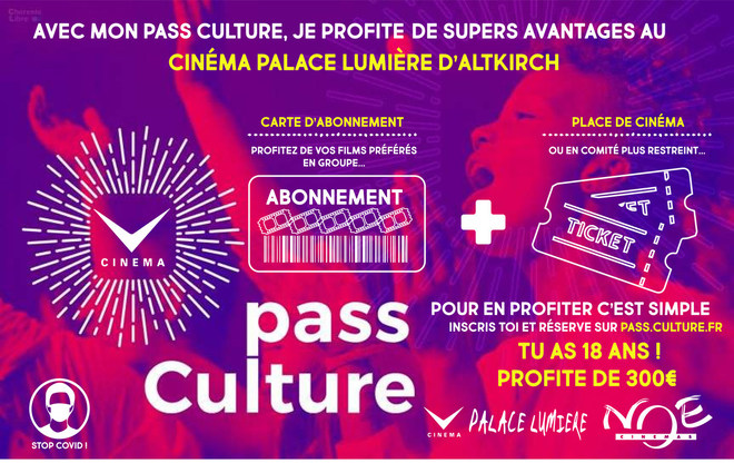 Pass culture : Jusqu'à 300€ en tickets cinéma
