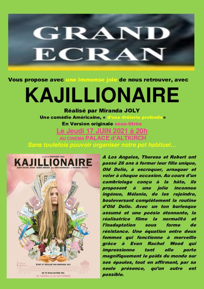 KAJILLIONAIRE - Séance Grand écran