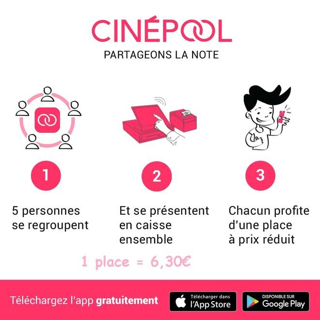 CINE POOL - Partagez une séance de cinéma en bénéficiant du tarif réduit