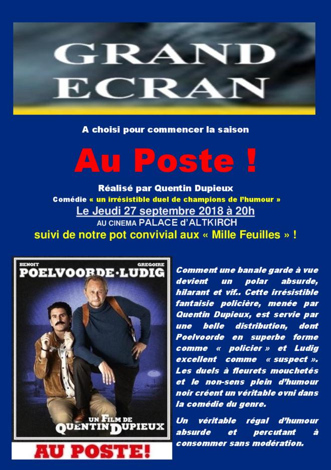 AU POSTE - Soirée Grand Ecran - Tarif habituel