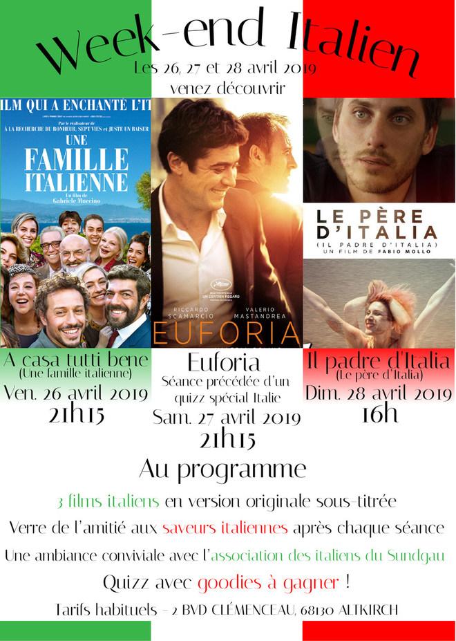 WEEK-END ITALIEN - 3 films italiens