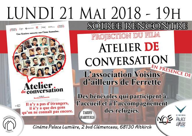 ATELIER DE CONVERSATION - Soirée rencontre avec Voisins d'Ailleurs de Ferrette - Tarifs habituels