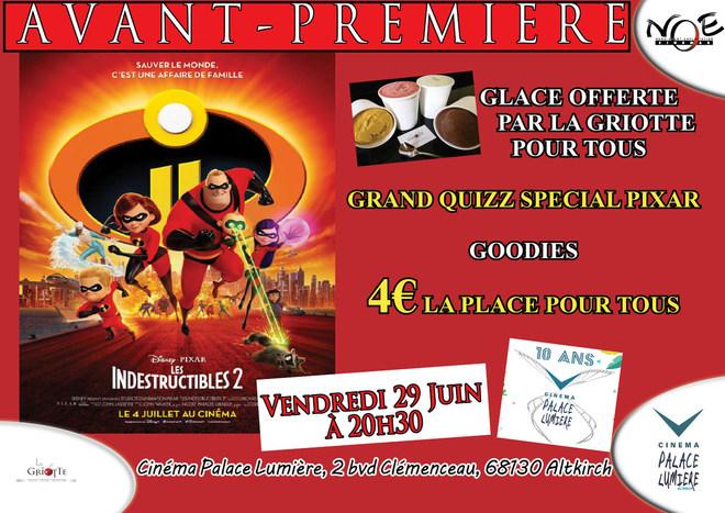 LES INDESTRUCTIBLES 2 - Glaces offertes par la Griotte/ Quiz Pixar - Tarif unique: 4€