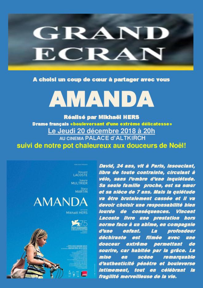 AMANDA - Séance Grand Ecran