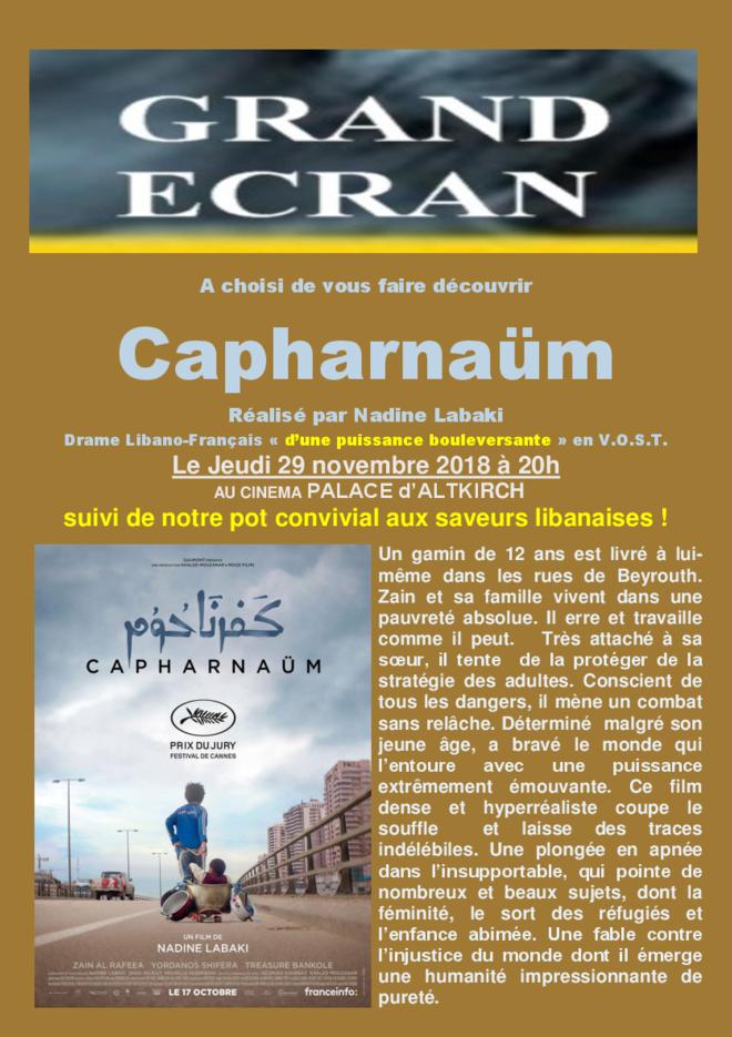 CAPHARNAÜM - Soirée Grand Ecran - VOST