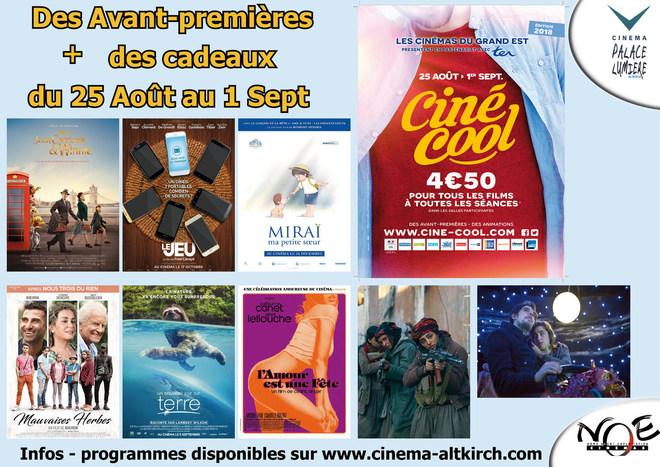 Cine-Cool -Avant-première tout les jours - tarif unique:4.50€