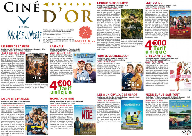 CINE D'OR - Tarif unique : 4€