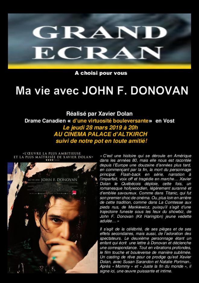 MA VIE AVEC JOHN F. DONOVAN - Séance Grand Ecran