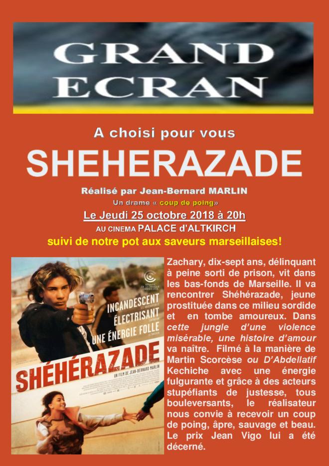 SHEHERAZADE -Soirée Grand Ecran - Tarif Habituel