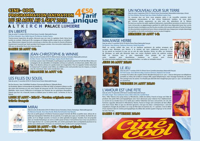 Les avant-premières du Ciné-Cool - Tarif unique: 4.50€